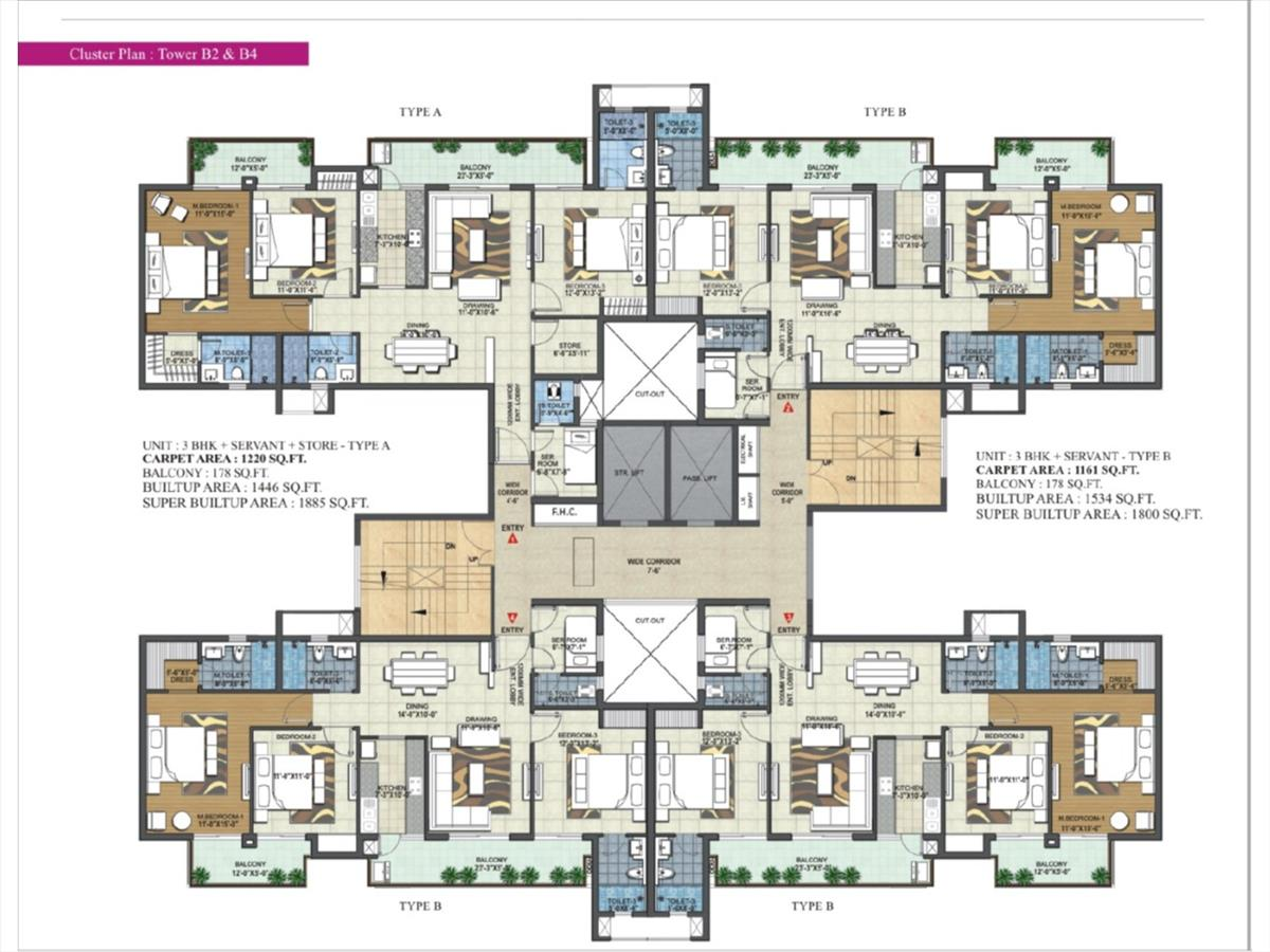 Cluster Floor Plan Tower B2 & B4